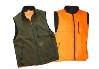 Γιλέκο για το κυνήγι Πράσινο-Πορτοκαλί φωσφοριζέ